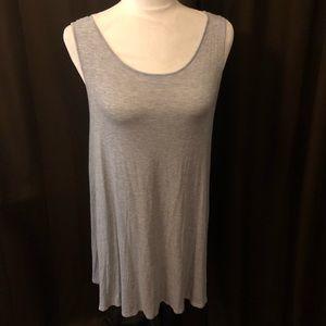 Grey Cotton Sleeveless Dress